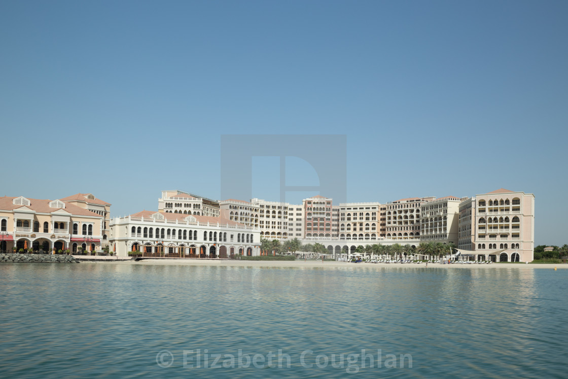 """Ritz-Carlton Hotel, Abu Dhabi, United Arab Emirates"" stock image"